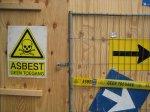ostrzeżenie przed azbestem